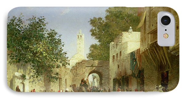 Arab Street Scene IPhone Case by Honore Boze