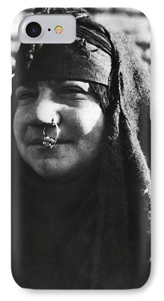 Arab Woman With Nose Ring IPhone Case by Underwood Archives