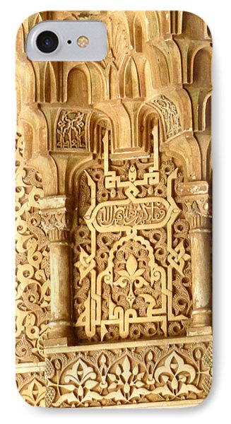IPhone Case featuring the photograph Arabesque At Alhambra Palace by Susan Alvaro