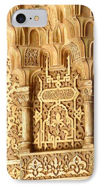 Arabesque At Alhambra Palace IPhone Case by Susan Alvaro