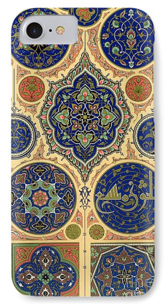 Arabian Decoration Plate Xxvii From Polychrome Ornament IPhone Case