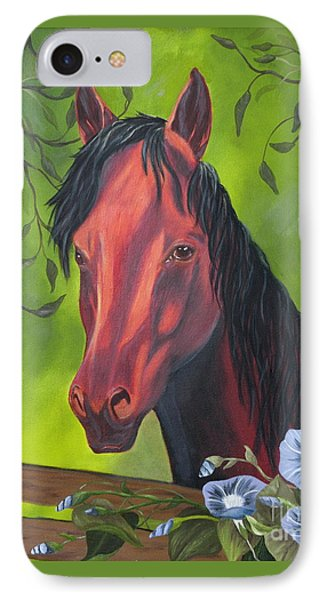 IPhone Case featuring the painting Arabian Horse by Terri Mills