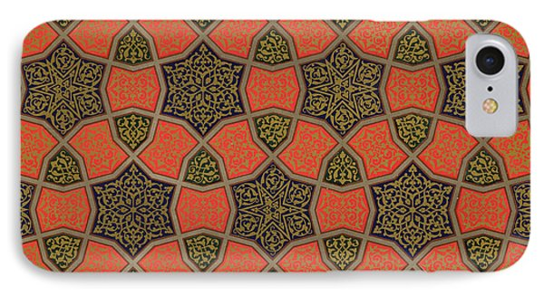 Arabic Decorative Design IPhone Case by Emile Prisse dAvennes