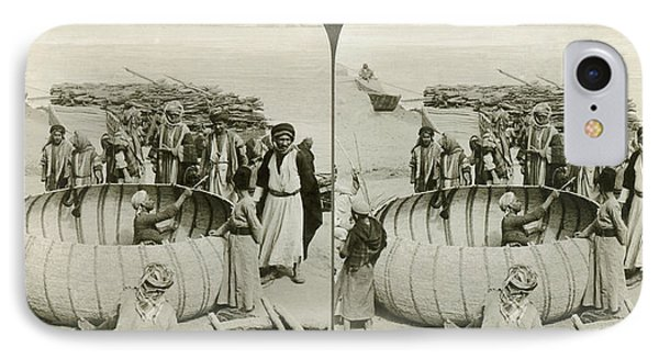 Arabs Building A Kufa IPhone Case by Underwood Archives