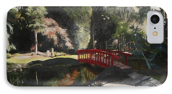 IPhone Case featuring the painting Arbour Bridge by Cherise Foster
