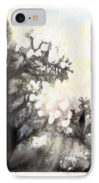IPhone 7 Case featuring the painting Arbres En Feu by Marc Philippe Joly
