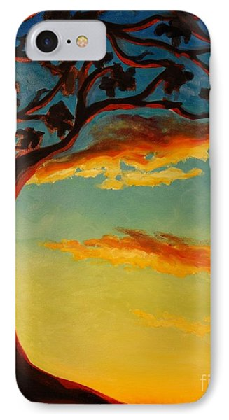 IPhone Case featuring the painting Arbutus Sunrise by Janet McDonald