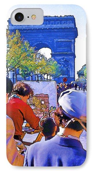 Arc De Triomphe Painter Phone Case by Chuck Staley