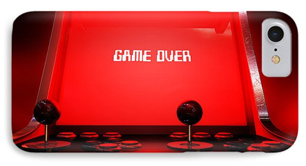 Arcade Game Game Over IPhone Case by Allan Swart