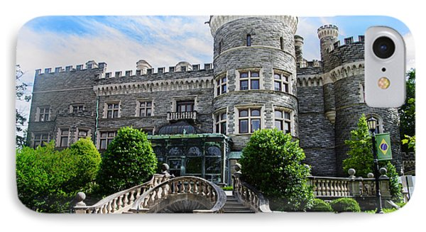 Arcadia College - Grey Towers Castle IPhone Case by Bill Cannon