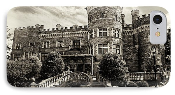 Arcadia College - Grey Towers Castle In Sepia IPhone Case by Bill Cannon