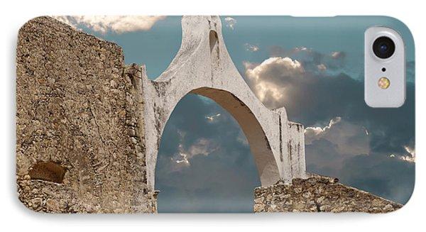 Arch At Convento San Antonio De Padua IPhone Case by Ellen Thane