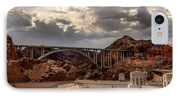 Arch Bridge And Hoover Dam Phone Case by Robert Bales