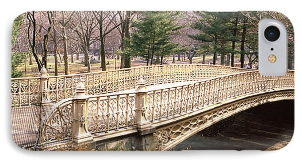 Arch Bridge In A Park, Central Park IPhone Case by Panoramic Images