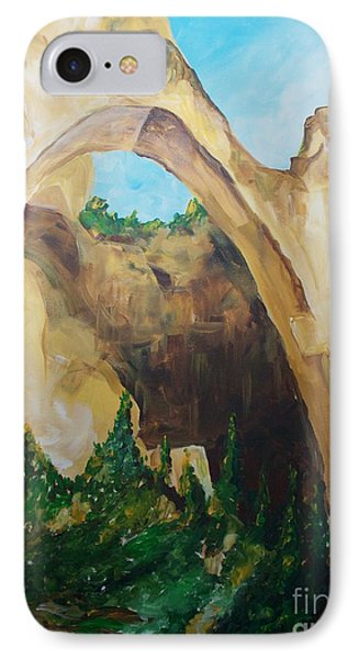 IPhone Case featuring the painting Arch by Eric  Schiabor