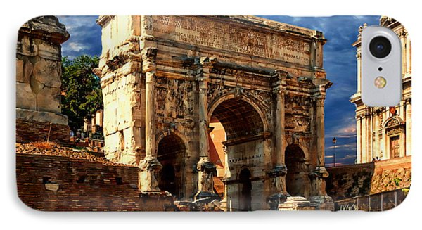 Arch Of Septimius Severus IPhone Case by Anthony Dezenzio