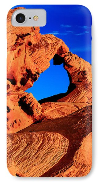 Arch Rock In The Valley Of Fire IPhone Case by Eric Foltz