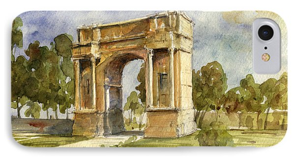 Arch Triumphal Of Antonius Pius At Tunisia IPhone Case by Juan  Bosco
