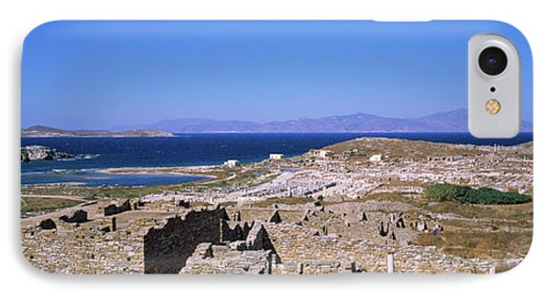 Archaeological Site On An Island IPhone Case by Panoramic Images