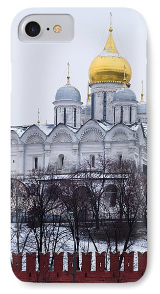 Archangel Cathedral Of Moscow Kremlin - Featured 3 Phone Case by Alexander Senin