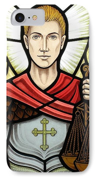 Archangel Michael Detail IPhone Case by Gilroy Stained Glass