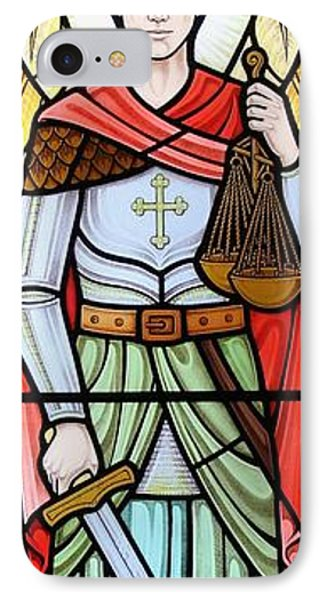 Archangel Michael IPhone Case by Gilroy Stained Glass