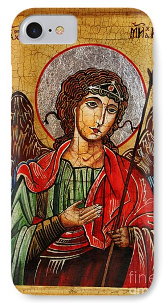 Archangel Michael Icon Phone Case by Ryszard Sleczka