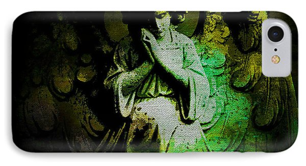 Archangel Uriel IPhone Case by Absinthe Art By Michelle LeAnn Scott