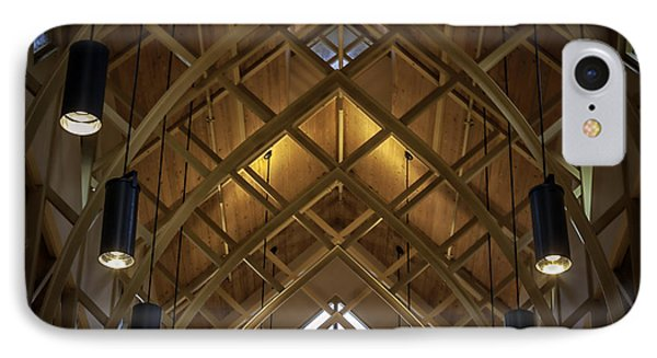 Arched Trusses - University Of Florida Chapel On Lake Alice IPhone Case by Lynn Palmer