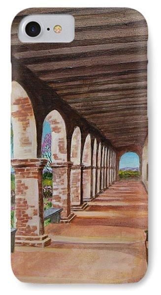 Arched Walkway At Noon  IPhone Case by Jan Mecklenburg