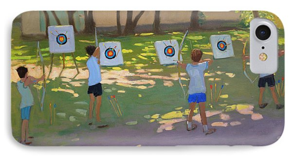 Archery Practice  France Phone Case by Andrew Macara