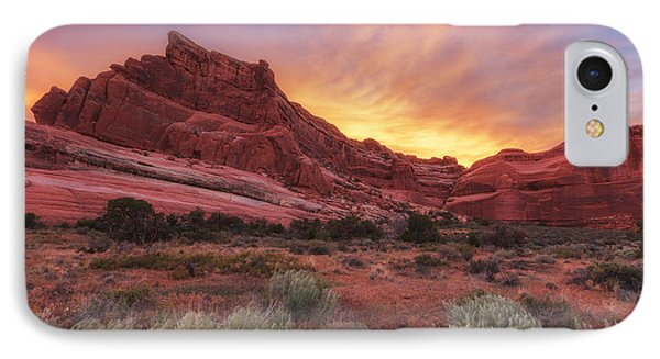 Arches Fire In The Sky IPhone Case by Darren  White