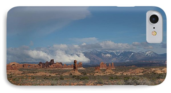 Arches National Monument Utah IPhone Case by Suzanne Lorenz