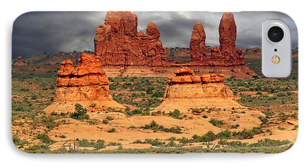 Arches National Park - A Picturesque Drama Phone Case by Christine Till