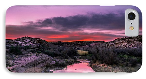 Arches Trail Hike IPhone Case by Michael J Bauer