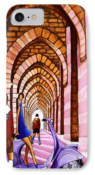 Arches Vespa And Flower Girl IPhone Case