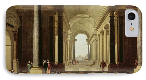 Architectural Fantasy With Figures, 1638 IPhone Case by Gerrit Houckgeest