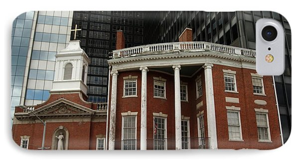 Architectural Juxtaposition In Manhattan Phone Case by Anna Lisa Yoder
