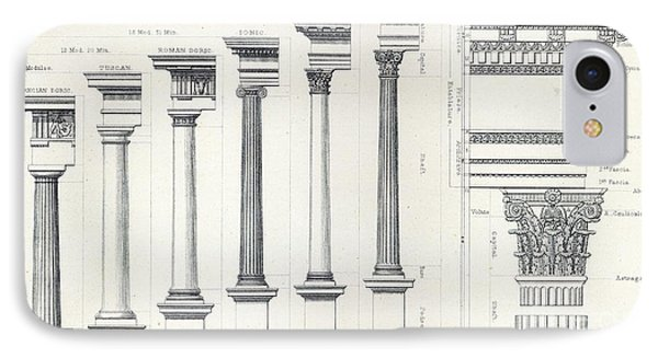 Architecture I Orders Of Architecture Engraved By Charles Lawrie IPhone Case by  John Burley Waring