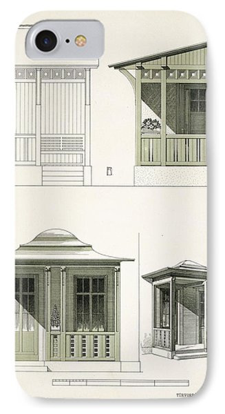 Architecture In Wood, C.1900 Phone Case by Richard Dorschfeldt