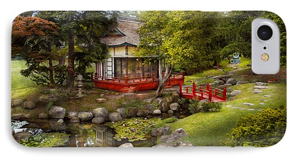 Architecture - Japan - Tranquil Moments  Phone Case by Mike Savad