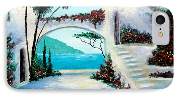 IPhone Case featuring the painting Archway  By The Sea by Larry Cirigliano