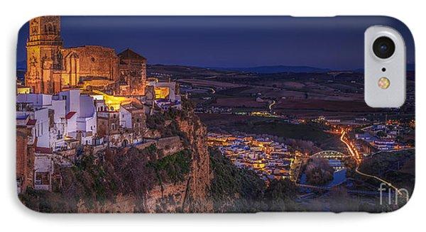 Arcos De La Frontera Panorama From Balcon De La Pena Cadiz Spain IPhone Case by Pablo Avanzini
