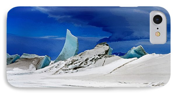 Arctic Pressure Ridge Phone Case by David Blank
