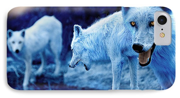 Arctic White Wolves IPhone Case