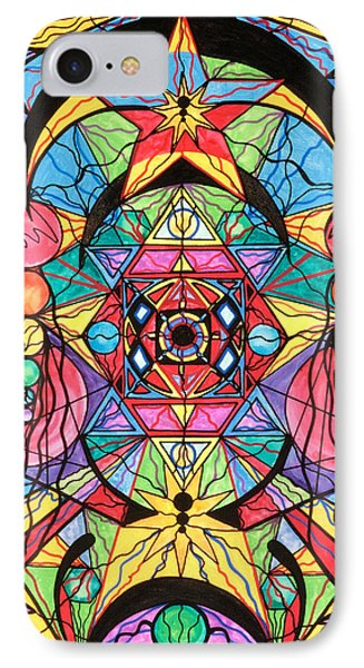 Arcturian Ascension Grid Phone Case by Teal Eye  Print Store