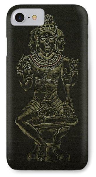 IPhone Case featuring the drawing Ardhanarishvara I by Michele Myers