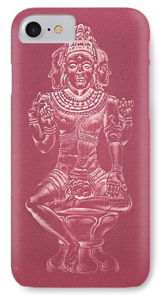 IPhone Case featuring the drawing Ardhanarishvara II by Michele Myers