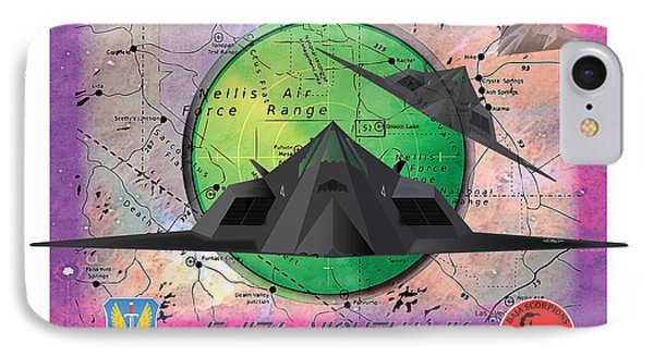 Area 51 IPhone Case by Kenneth De Tore