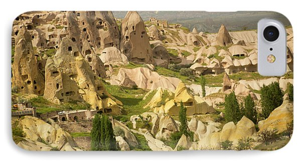 Area Around Rock Castle  Uchisar IPhone Case by Ron Dahlquist